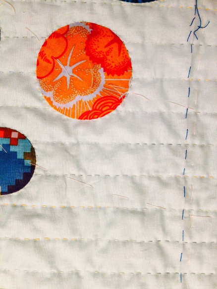 hand quilting fishy quilt